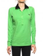 FRED PERRY POLO 31032202 VERDE/NERO Donna