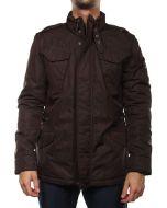 WOOLRICH MICRO CANVAS FIELD MARRONE WOCPS1560 MC02 Winter Jacket Men