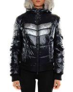 REFRIGIWEAR WINDER JACKET NERO ARGENTO LUCIDO W38600 giacca invernale donna
