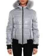 REFRIGIWEAR LOTUS JACKET GRIGIO LUCIDO W50800 giacca invernale donna