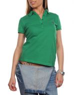 FRED PERRY STRETCH VERDE TENNIS 31162043 polo donna