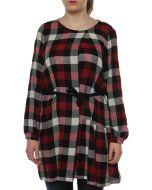 WOOLRICH GAUZE DRESS WWABI0325 ROSSO vestito donna