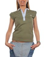 FRED PERRY VERDE MILITARE 31162178 polo donna