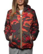 K-WAY LILY THERMOPLUS DOUBLE CAMO ROSSO/CAFFE K004UC0 913 giacca invernale piumino donna