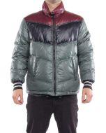 FRED PERRY PIUMINO TRAPUNTATO A TRE REVERSIBILE BORDEAUX VERDE NERO 30702040 giacca invernale piumino uomo