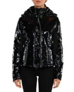 REFRIGIWEAR PATENT LEATHER ICE-SHEET JACKET NERO LUCIDO W37400 giacca invernale donna