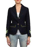 DE'HART SARA BLU giacca leggera donna