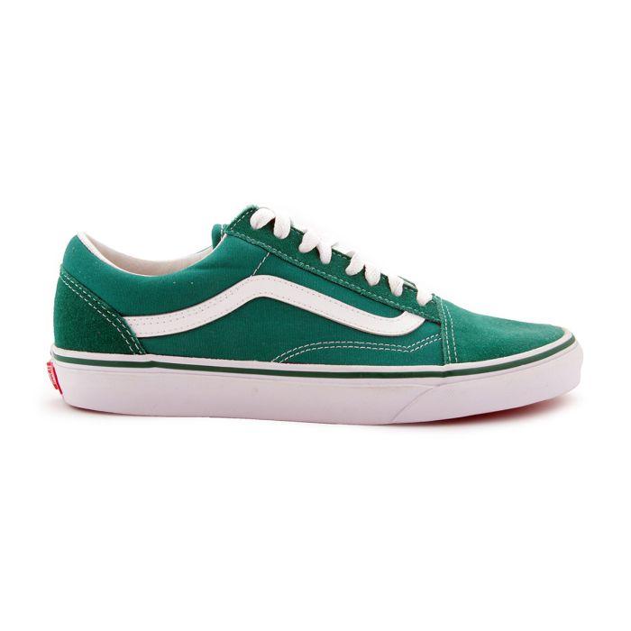 VANS OLD SKOOL verde bianco uomo scarpa sport skate VNOA38G1MWI