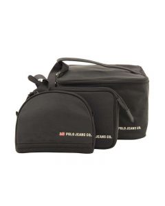 RALPH LAUREN BEAUTY COSMETIC BAG SET NERO 598TRV set di borse
