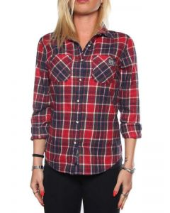 SUPERDRY WINTER LUMBERJACK G40LE004 BURNS CHECK camicia donna