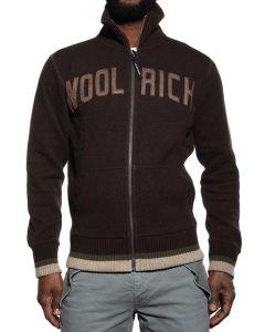 WOOLRICH WOOL COTTON LOGO CARDIGAN MARRONE WOFEL0667 WC60 Cardigan Uomo