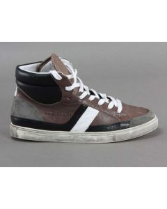 SERAFINI OSAKA MARRONE GRIGIO NERO BIANCO 897 Scarpe alte Sneakers da uomo in pelle