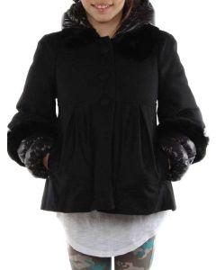 MONCLER PIUMA LANA PAM NERO LDSE60 NOS48 giacca invernale piumino bambina