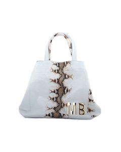 MIA BAG SACCA SHOPPING PITONE BIANCO/TAUPE 14622 MB Borsa