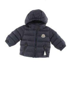 MONCLER BABY BLU PUSH01 E0855 40049 giacca invernale piumino bimbo