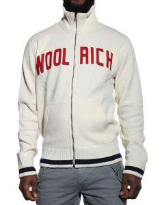 WOOLRICH WOOL COTTON LOGO CARDIGAN PANNA WOFEL0534WC60 Cardigan Uomo