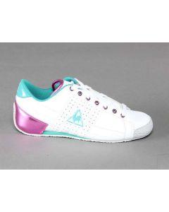 LE COQ SPORTIF ESCRIME BIANCO FUXIA VERDE 921104 scarpe da ginnastica basse donna