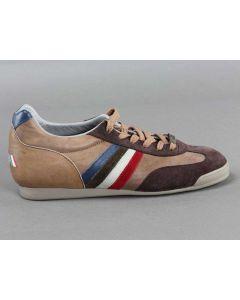 SERAFINI ITALIA BEIGE MARRONE 2001 Scarpe basse Sneakers da Uomo in pelle