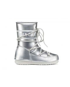 MOON BOOT W.E. PUDDLE JUMPER MID JUNIOR ARGENTO 340503 bambino
