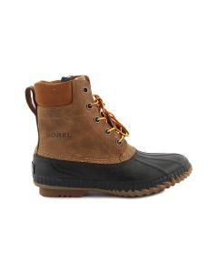 SOREL CHEYANNE LACE FULL GRAIN NM 1704224 CHIPMUNK NERO stivali scarpe uomo